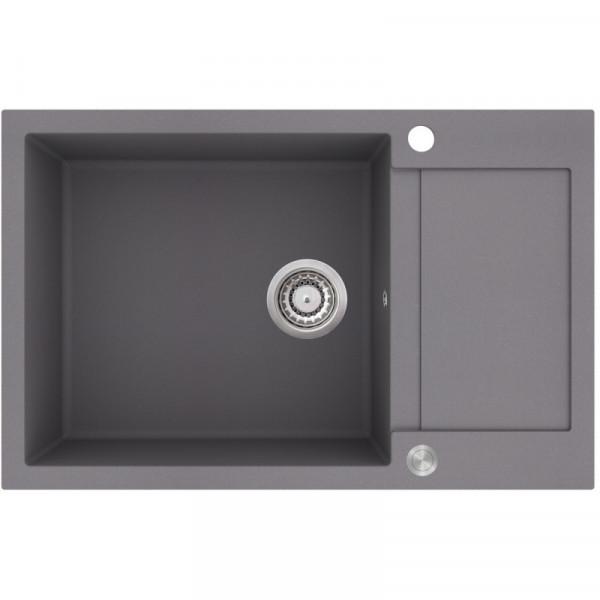 Мойка для кухни гранитная алюметаллик AquaSanita TESA SQT-104-202