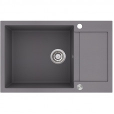 Мойка для кухни гранитная алюметаллик AquaSanita TESA SQT-105-202