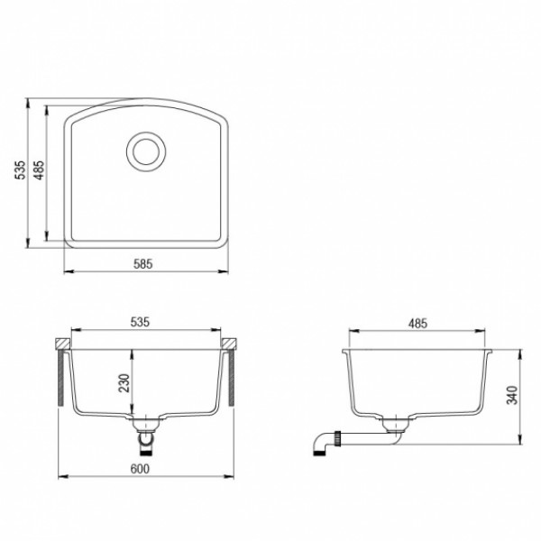 Мойка для кухни гранитная Aquasanita Arca SQA-103W-111