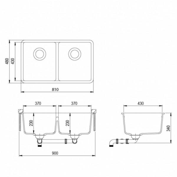 Мойка для кухни гранитная Aquasanita Arca SQA-200W-220