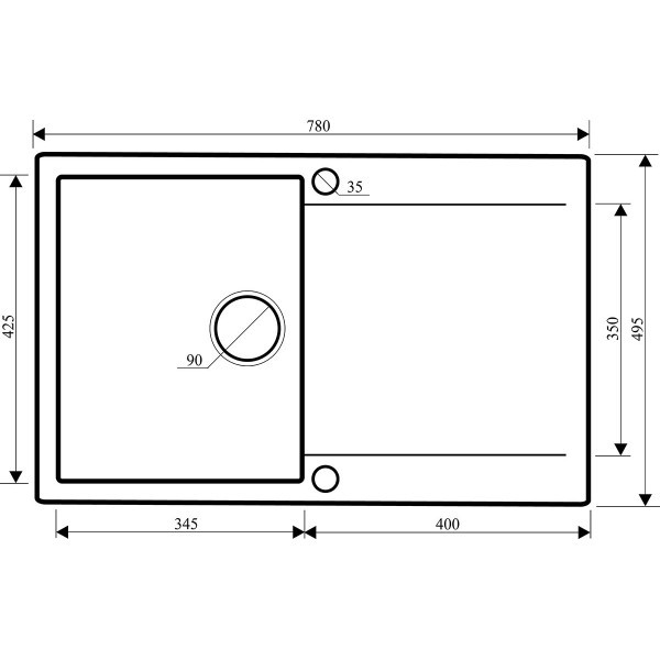 Мойка для кухни гранитная Aquasanita Cubus SQC-101AW-501