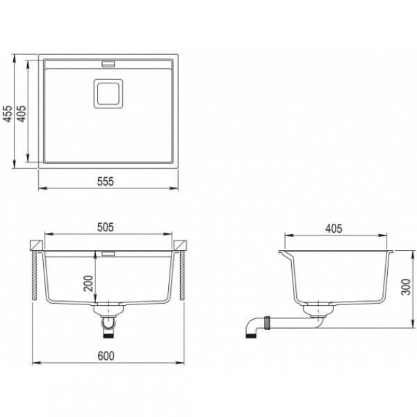 Мойка для кухни гранитная Aquasanita Delicia SQD-100AW-202