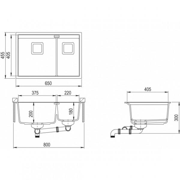 Мойка для кухни гранитная Aquasanita Delicia SQD-150AW-110