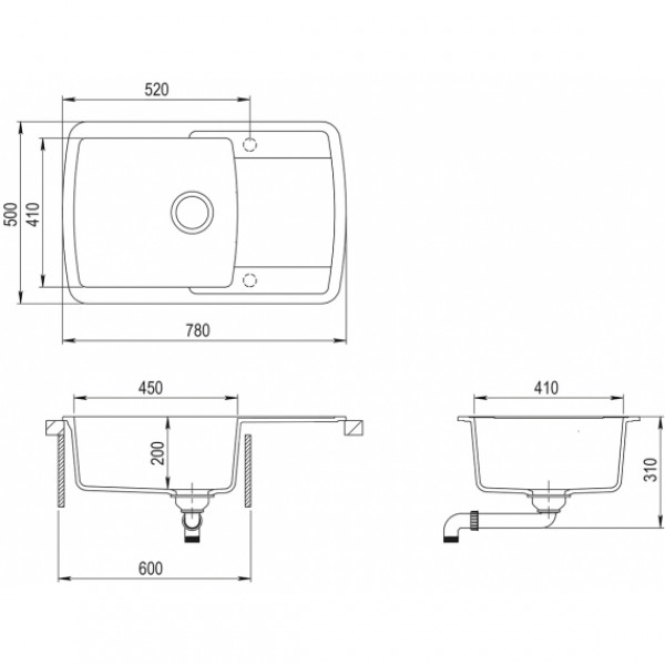 Мойка для кухни гранитная Aquasanita Lira SQL-101AW-111