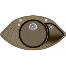 Мойка для кухни гранитная Aquasanita Papillon SCP-151AW-301