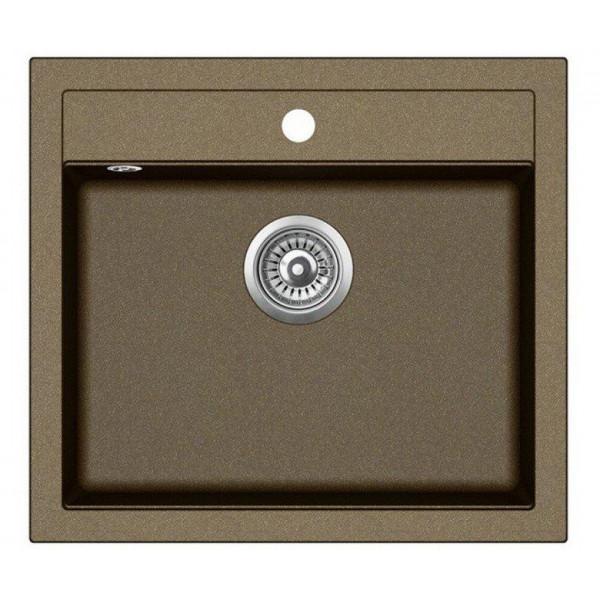 Мойка для кухни гранитная Aquasanita Quadro SQQ-100W-301