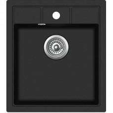 Мойка для кухни гранитная черная AquaSanita NOVA SQN-100-601