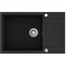 Мойка для кухни гранитная черная AquaSanita TESA SQT-105-601