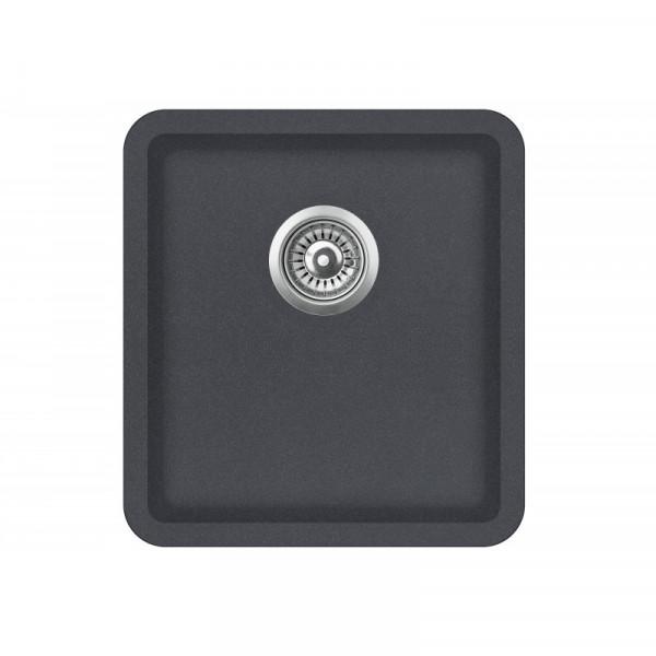 Мойка для кухни гранитная графит AquaSanita ARCA SQA-101-222
