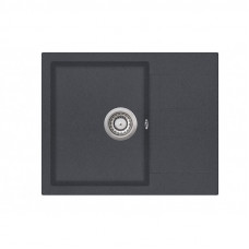 Мойка для кухни гранитная графит AquaSanita TESA SQT-102-222