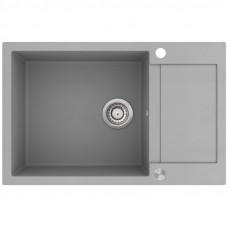 Мойка для кухни гранитная серая AquaSanita TESA SQT-104-220