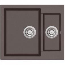 Гранитная мойка для кухни AquaSanita Tesa SQT-150-120 коричневый