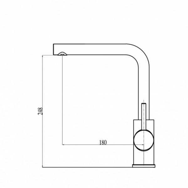 Смеситель для кухни Aquasanita Forte 5553E-601