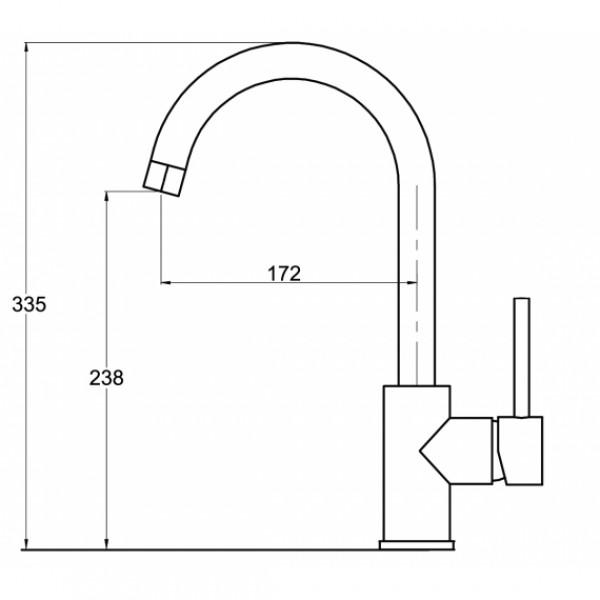 Смеситель для кухни AquaSanita Sabia 5523-002