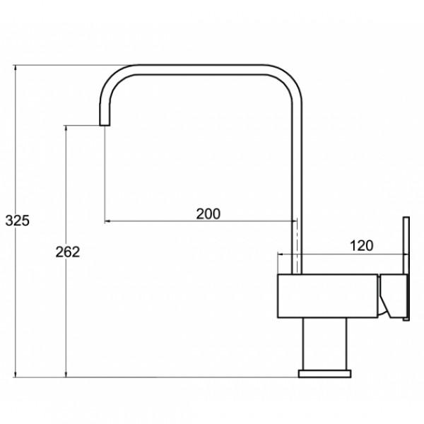 Смеситель для кухни Aquasanita Tempus 2033-001