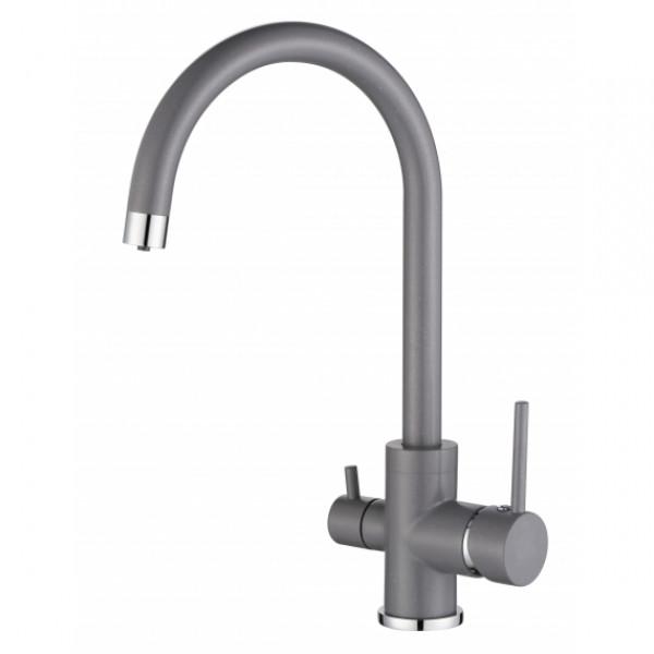 Смеситель для кухни на две воды Aquasanita Sabiaduo 2963-202