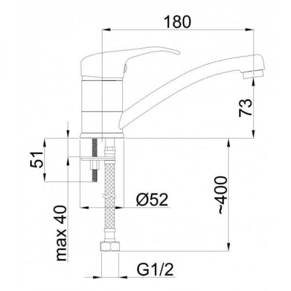 Смеситель для раковины Rubineta Y 19 Mars Y90003