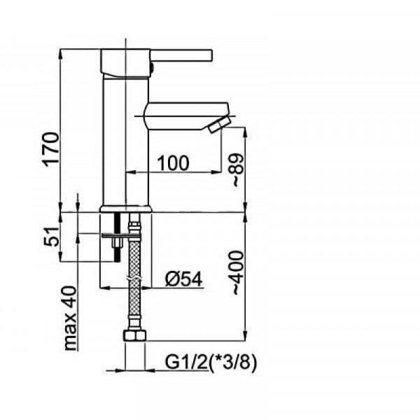 Смеситель для умывальника RUBINETA ULTRA U80008