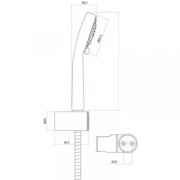Душевой набор Cersanit Lano S951-022