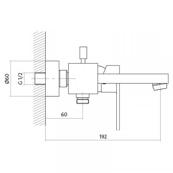 Смеситель для ванны Cersanit Elio S951-007