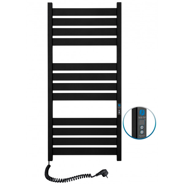 Полотенцесушитель Largo 500х1200 Digital левый (черный муар) 12-244152-5012