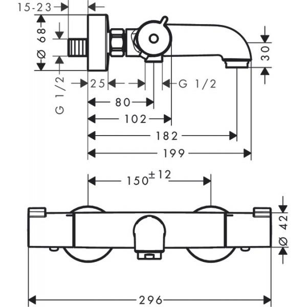 Термостат для ванны Hansgrohe Ecostat 1001 CL 13201000