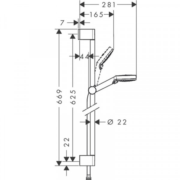 Душевой набор Hansgrohe Crometta Vario/Unica'C 26532400