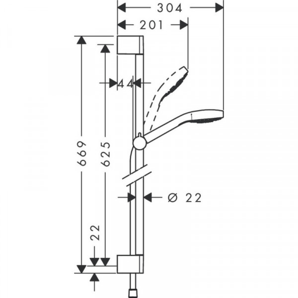 Душевой набор Hansgrohe Croma Select S Multi 26561400