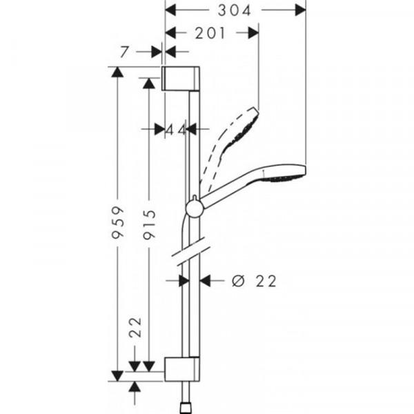 Душевой набор Hansgrohe Croma select S Vario/Unica`Crometta 26572400