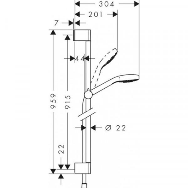 Душевой набор Hansgrohe Croma select S 26574400