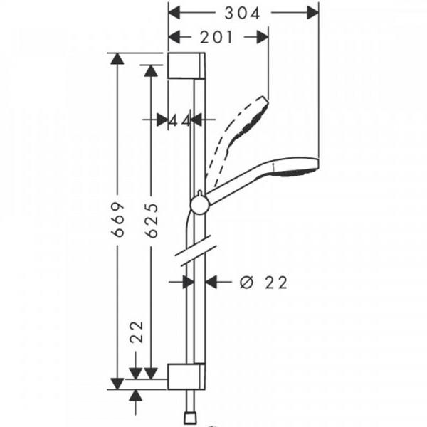 Душевой набор, хром/белый Hansgrohe Croma select E 26585400