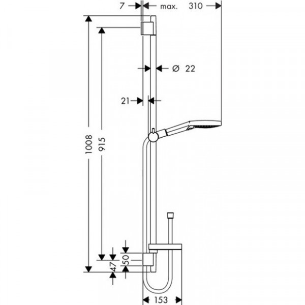 Душевой набор Hansgrohe Raindance Select S120 Unica`S Puro 26631000