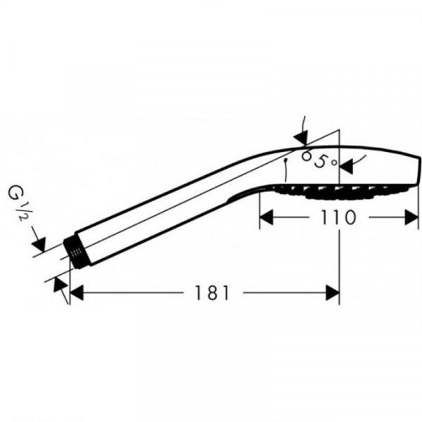 Ручной душ Hansgrohe Croma Select S Vario 26802400