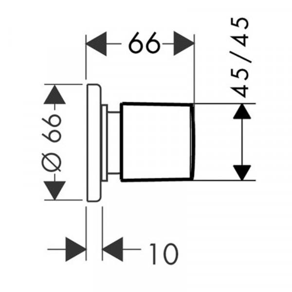 Запорный вентиль Hansgrohe Metris 31677000