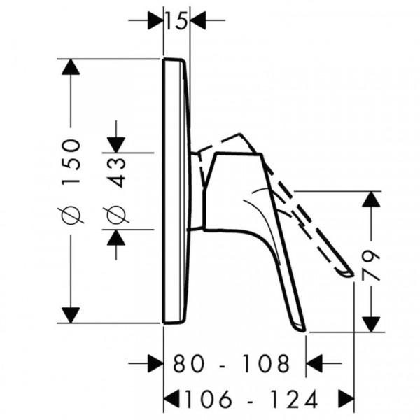 Верхняя часть смесителя для душа Hansgrohe Focus E2 31965000