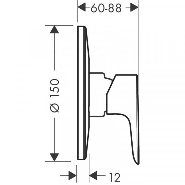 Наружная часть смесителя для душа Hansgrohe Talis E 71766000