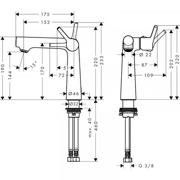 Смеситель для раковины Hansgrohe Talis S 72114000