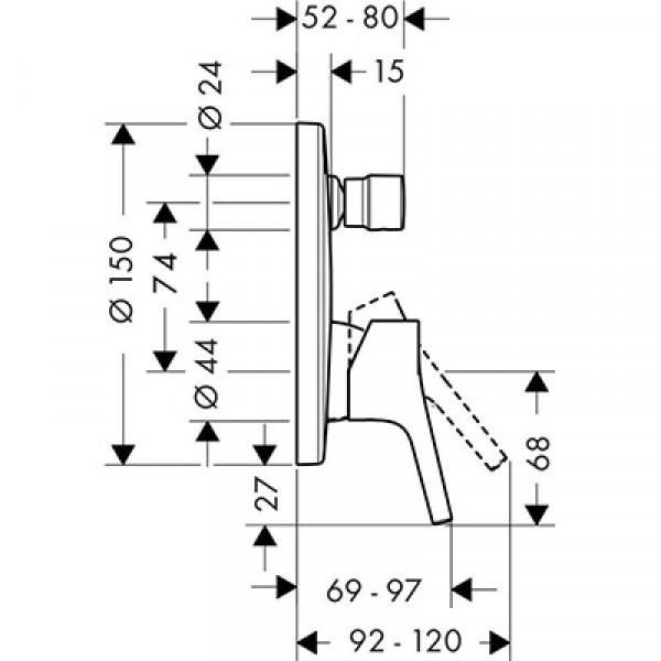 Смесителя для ванны Hansgrohe Talis S 72405000