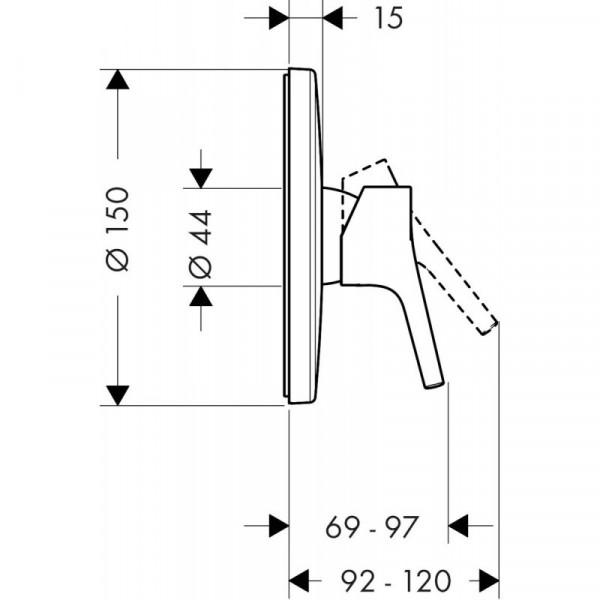 Наружная часть смесителя для душа Hansgrohe Talis S 72606000
