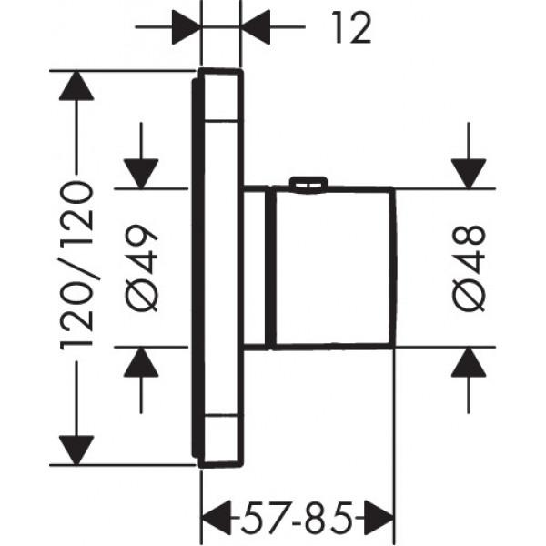 Термостат Hansgrohe Axor Citterio E 36702000