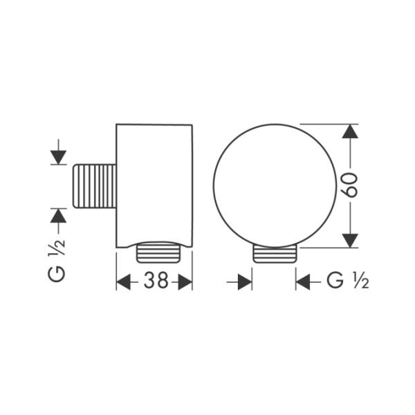 Шланговое подключение Hansgrohe Axor Fixfit 27451800