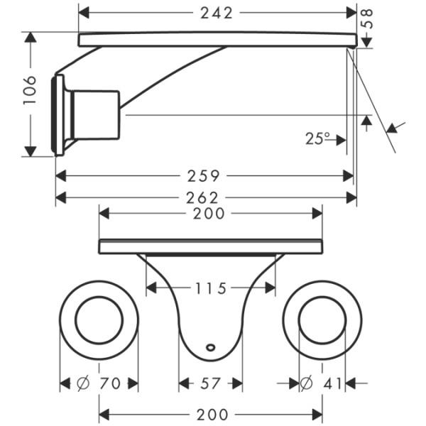 Настенный смеситель для раковины Hansgrohe Axor Massaud 18115000