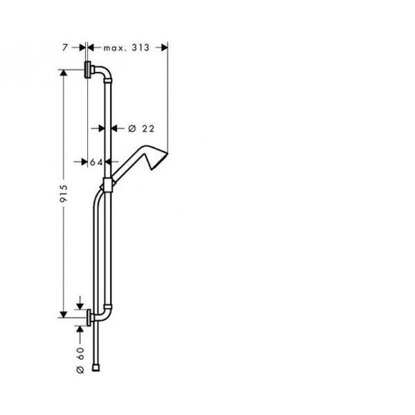 Душевой набор со штангой Hansgrohe Axor Showers Front 26023000