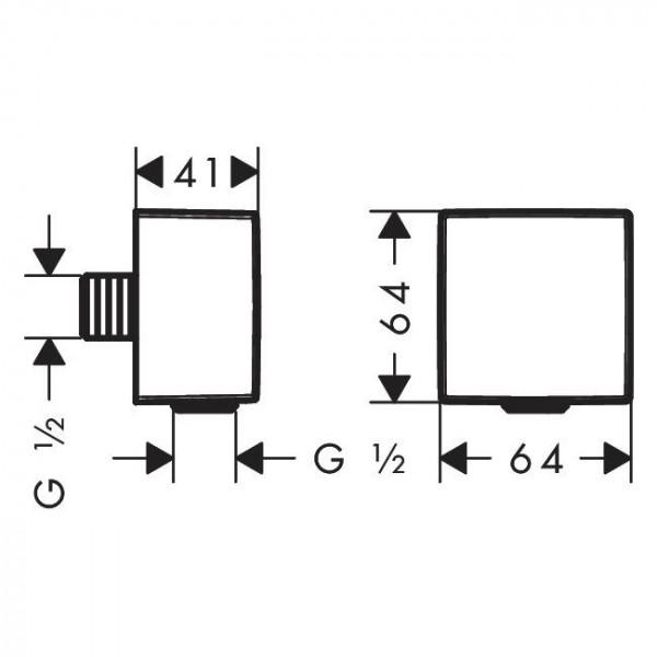 Шланговое подключение, матовый белый Hansgrohe Fixfit 26455700