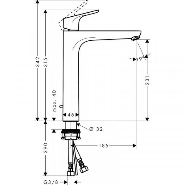 Смеситель для раковины Hansgrohe Focus 31532000