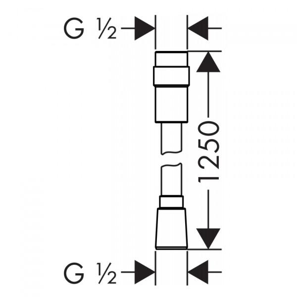 Шланг для душа 1,25 м Hansgrohe Isiflex 28249000