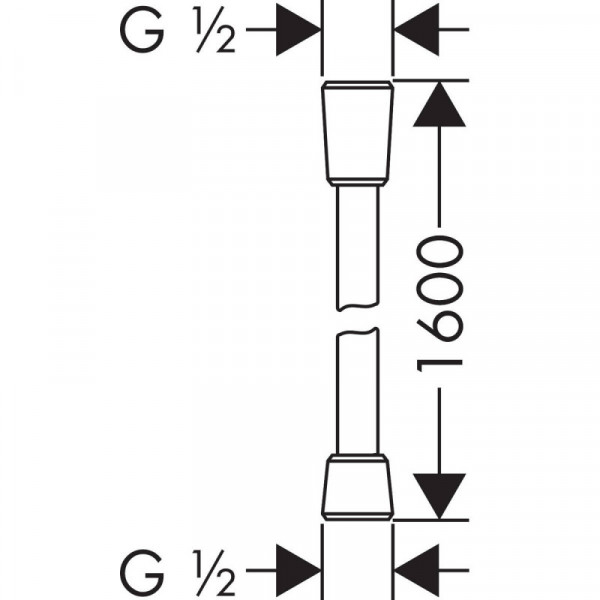 Шланг для душа 1,6 м, белый матовый Hansgrohe Isiflex 28276700