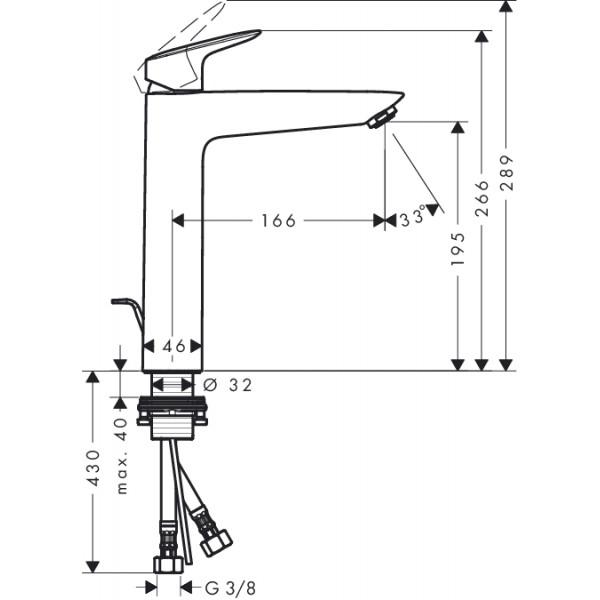 Смеситель для раковины Hansgrohe Logis 71090000