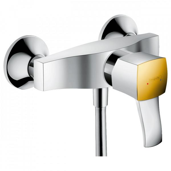 Смеситель для душа, хром/золото Hansgrohe Metropol Classic 31360090