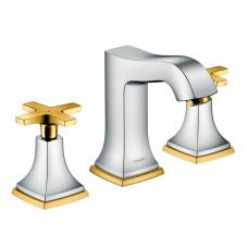 Смеситель для раковины, хром/золото Hansgrohe Metropol Classic 31306090